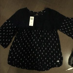 Gorgeous Navy Abercrombie Blouse for Girls